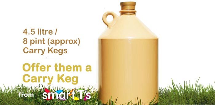 4.5 litre or 8 pint Carry Keg